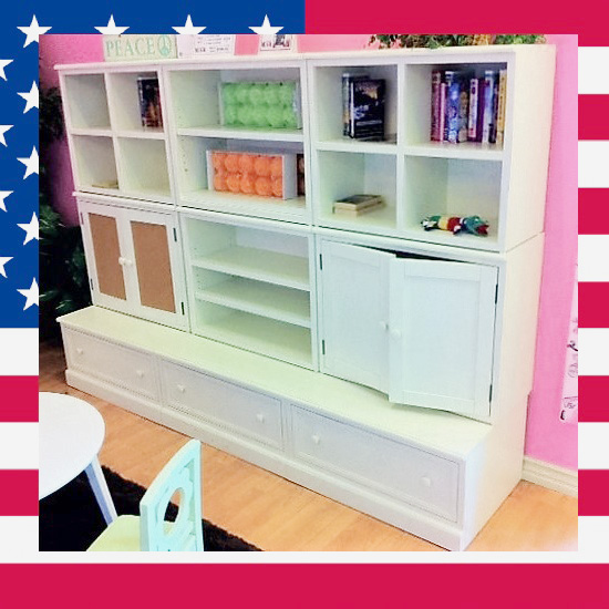 Item # US0010 Storage wall unit for Kids