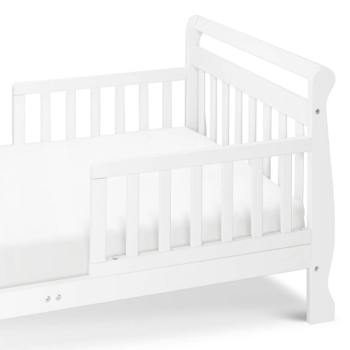 014TRB Toddler Sleigh Bed in White