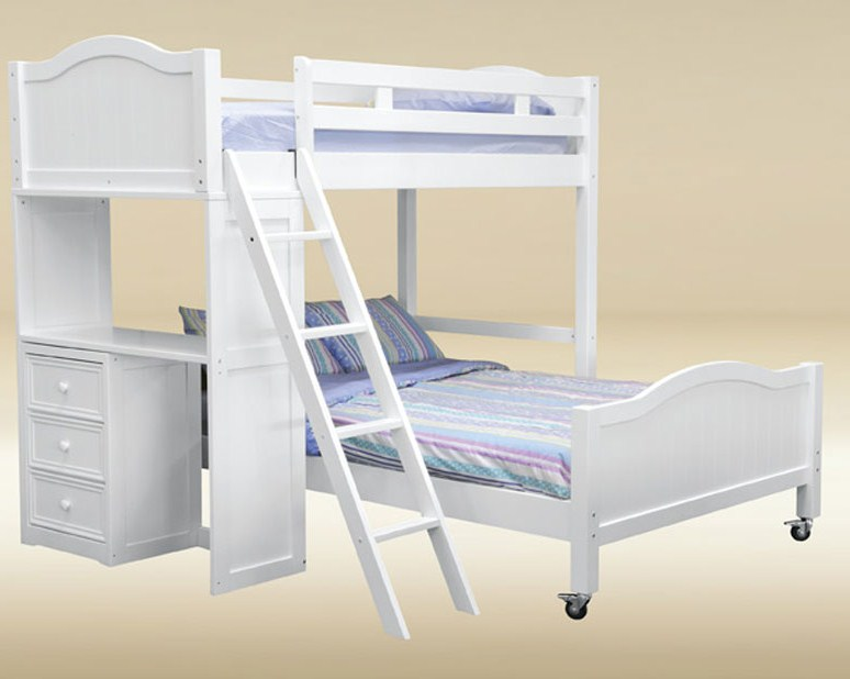 046A TF-LB-BB-W Twin/Full Loft Bed