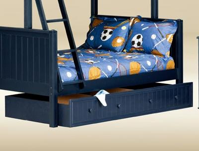 CUBT-BB-BLUE Twin Trundle/Storage Unit in Blue