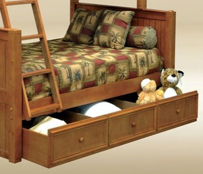 1931P Twin Trundle / Storage Combo in Pecan