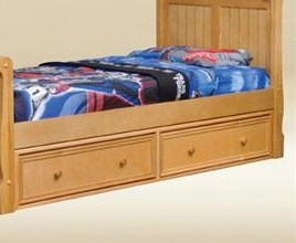 1602B Two Under Bed Drawers in Birch