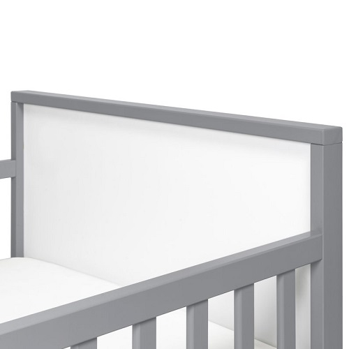 013TRB Simple Two Tone Toddler Bed in Grey/White