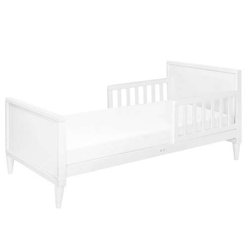 006TRB Simple Two Tone Toddler Bed in White