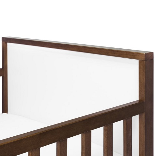 012TRB Simple Two Tone Toddler Bed in White/Walnut