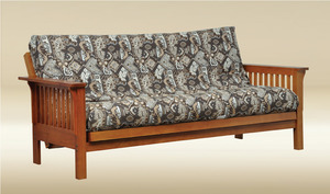 Item # 6522K Full Size Futon in Oak