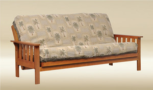 Item # 062FN Full Size Futon in Oak