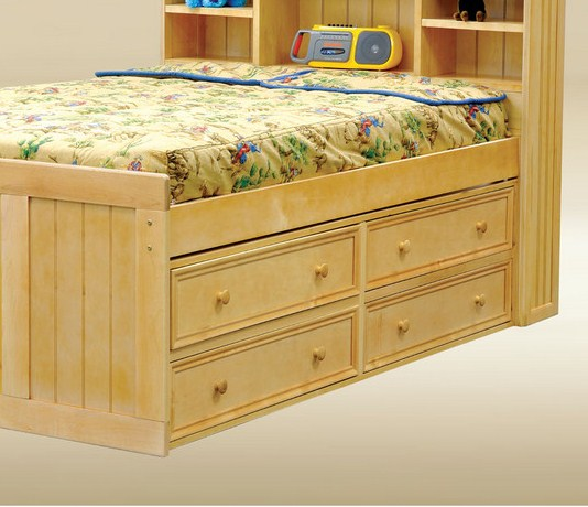 1801B Four Under Bed Drawers in Birch