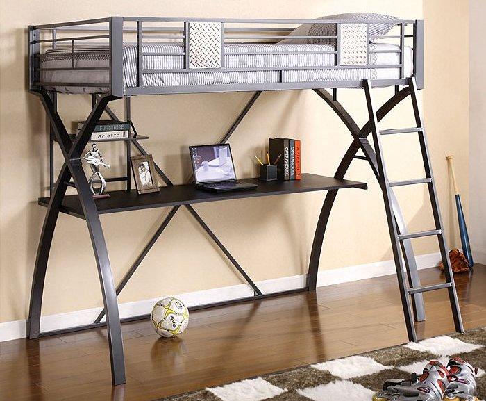 1028 Twin Loft Bed w/ Workstation