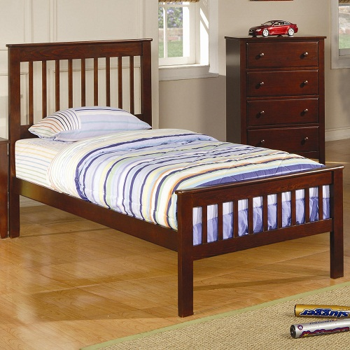 0950T Twin Slat Headboard & Footboard Bed