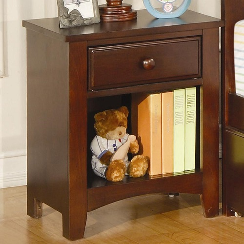 088NS Nightstand w/ Drawer and Shelf