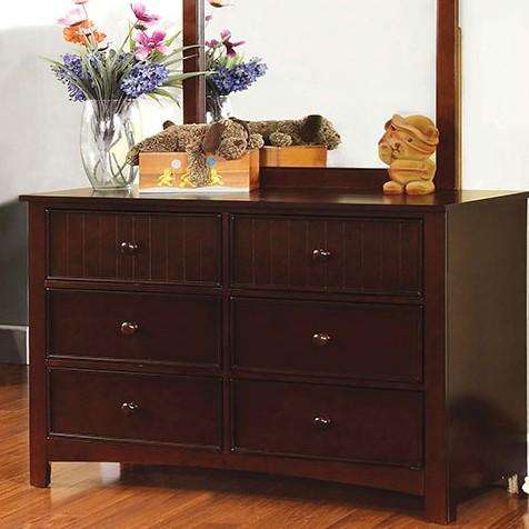 Item # 177DR Dark Walnut 6 Drawer Dresser