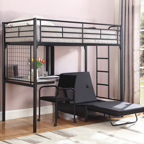 Item # MLB013 Twin Loft Bunk Bed with Futon Chair & Desk