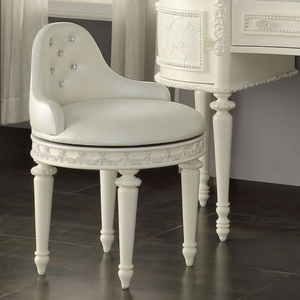 002KCH Pearl White Swivel Chair - Finish: Pearl White<br><br>Dimensions: 28
