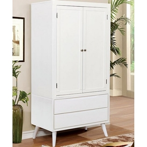001AM Modern Armoire in White - Finish: White<br><br>Available in Black Finish