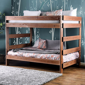 001FF Full/Full Bunk Bed - Finish: Mahogany<br><br>Available in Twin/Twin Bunk Bed<br><br>Dimensions:
