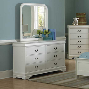Item # 001M Mirror - Finish: White<br><br>*Dresser Sold Separately<br><br>Dimensions: 38.5