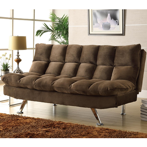 002FN Sofa Bed - Finish: Chocolate Textured Plush Microfiber Cover<br><br>Dimensions: <br><br>Sofa: 70.5 x 36 x 35H<br><br>Bed: 70.5 x 49 x 19.5H