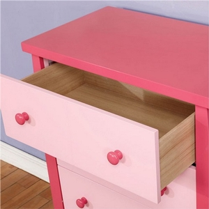 002CH Pink 4 Drawer Two Tone Chest