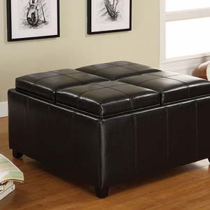 Item # 003SB Storage Ottoman - Finish: Espresso<br><br>Dimensions: 35