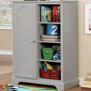004AM Armoire in Gray - Finish: Gray<br><br>Available in Cherry & Blue<br><br>Dimensions: 32 1/8