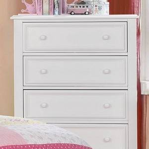 004CH 5 Drawer White Chest - Finish: White<br><br>Available in Dark Walnut<br><br>Dimensions: 32