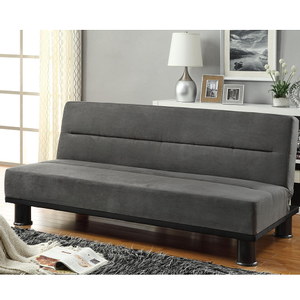 004FN Futon  - Finish: Grey Microfiber Cover<br><br>Available in Brown Microfiber<br><br>Dimensions:<br><br>Sofa: 70.5 x 33.5 x 30.5H<br><br>Bed: 70.5 x 42.25 x 15.5H