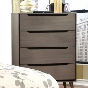 005CH Modern Chest in Gray - Finish: Gray<br><br>Available in White, Black or Oak Finish<br><br>Dimensions: 34