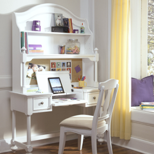 Item # 005HC Desk Hutch - Finish: Natural White<br><br>Desk Sold Separately<br><br>Dimensions: 46W x 12D x 30H