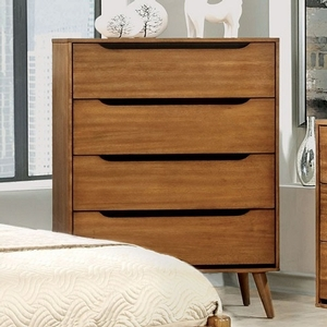 006CH Modern Style Chest in Oak - Finish: Oak<br><br>Available in White, Black or Oak Finish<br><br>Dimensions: 34