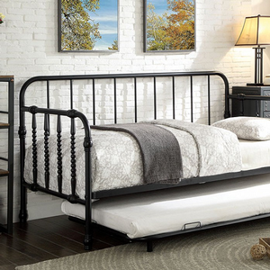 Item # 006MDB Metal Daybed w/ Trundle - Finish: Black<br><br>Available in White Finish<br><br>Trundle Included<br><br>Mattress Ready<br><br>Dimensions: 79 7/8