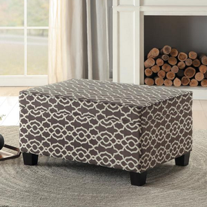 Item # 006SB Lift-Top Storage Cocktail Ottoman - Finish: Brown/White<br><br>Available in Blue/White<br><br>Dimensions: 36 x 26 x 19.5H