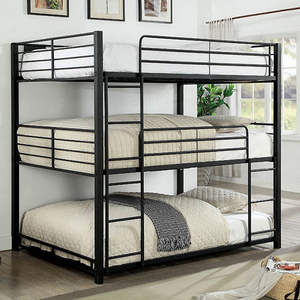 Item # 0077FF Full Triple Decker Bed - Finish: Sand Black<br><br>Available in Twin & Queen Sizes<br><br>Dimensions: 79L x 56 3/4W x 74 3/8H