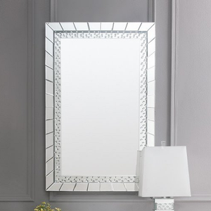 Item # 008M Sparkling Mirror in Silver - Finish: Silver<br><br>Desk & Stool Sold Separately<br><br>Dimensions: 32