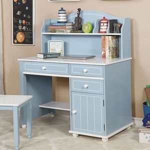 Item # 009HC Desk Hutch - Finish: Blue/White<br><br>Dimensions: 40 3/4