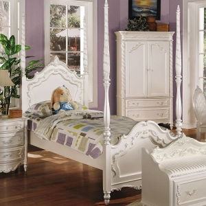 0908T Twin Post Bed