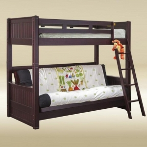 Item # A0008T Twin Bunk with Futon Bed