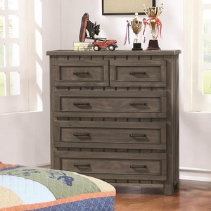 011CH 5 Drawer Chest - Finish: Gunsmoke<br><br>Dimensions: 37W x 16D x 40.75H