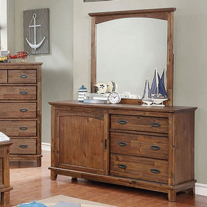 Item # 011M Mirror in Dark Oak - Finish: Dark Oak<br><br>**Dresser Sold Separately**<br><br>Dimensions: 37