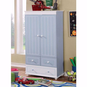 012AM Blue/White Armoire - Finish: Blue/White<br><br>Dimensions: 32 5/8