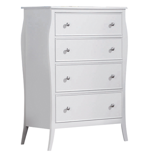 Item # 012CH Elegant 4 Drawer White Chest