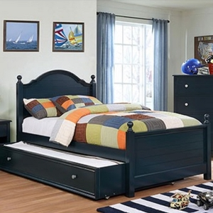 Item # 0136T Twin Bed in Blue