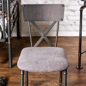 013CHR Metal Chair - Finish: Antique Black<br><br>Desk Sold Separately<br><br>Dimensions: 26