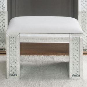 013KCH Sparkling Vanity Stool - Finish: Silver<br><br>Desk Sold Separately<br><br>Dimensions: 26