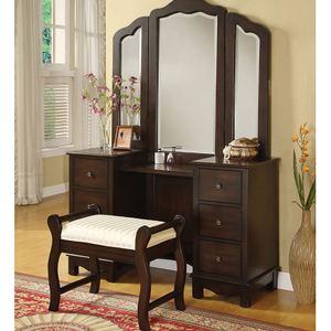 Item # 013M Vanity Mirror - Finish: Brown<br><br>Vanity Desk & Stool Sold Separately<br><br>Dimensions: 46 x 41