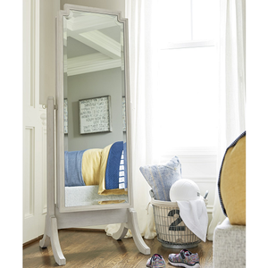 Item # 013M Cheval Storage Mirror - Finish: Alabaster<br><br>Dimensions: 24