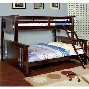 Item # 014QB Twin XL/ Queen Bunk Bed - Finish: Dark Walnut<br><br>Available in Oak & White finish<br><br>Available in Twin/Full Bunk<br><br>Dimensions: 86 1/2W x 67 1/2D x 65 1/2H