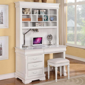 Item # 015HC Simple White Desk Hutch - Finish: White<br><br>Desk sold separately<br><br>Dimensions: 50