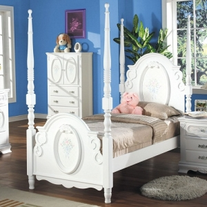 0910T Twin Post Bed