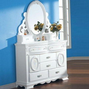Item # 068DR Door Dresser - Finish: White<br><br>Mirror sold separately<br><br>Dimensions: 52